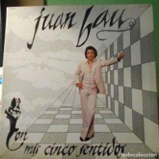 Autógrafos de Música : JUAN BAU CON MIS CINCO SENTIDOS FIRMADO AUTOGRAFO ORIGINAL LP CARPETA DOBLE ZAFIRO 1978. Lote 218706348