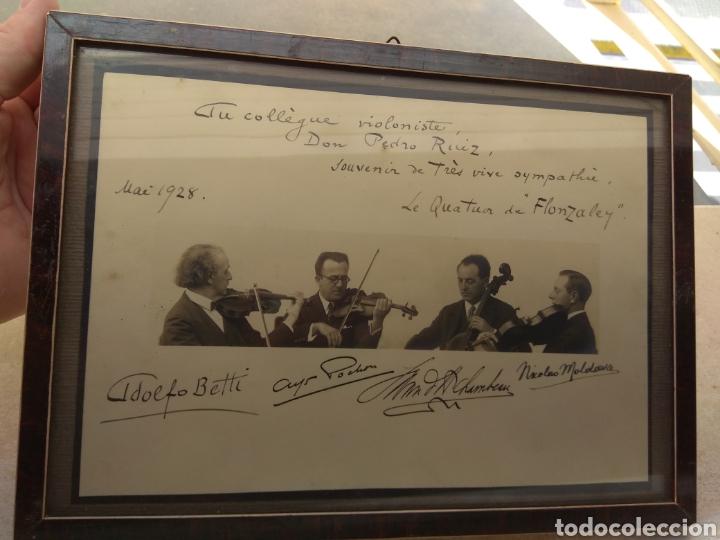 Autógrafos de Música : Foto Firmada y Dedicada por el Cuarteto de Violinistas Quartet Flonzaley en el año 1928 - - Foto 2 - 218722076