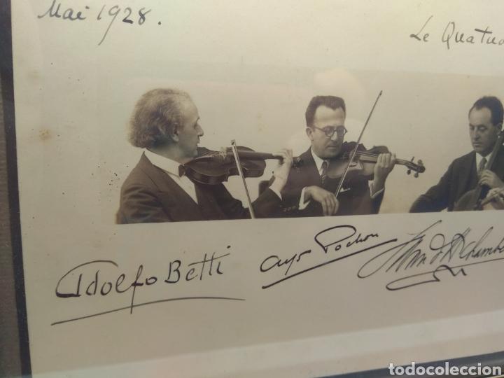 Autógrafos de Música : Foto Firmada y Dedicada por el Cuarteto de Violinistas Quartet Flonzaley en el año 1928 - - Foto 3 - 218722076