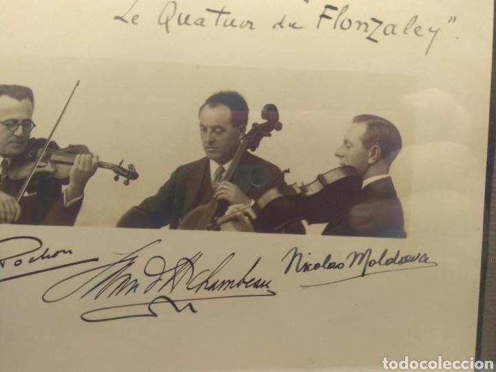 Autógrafos de Música : Foto Firmada y Dedicada por el Cuarteto de Violinistas Quartet Flonzaley en el año 1928 - - Foto 4 - 218722076