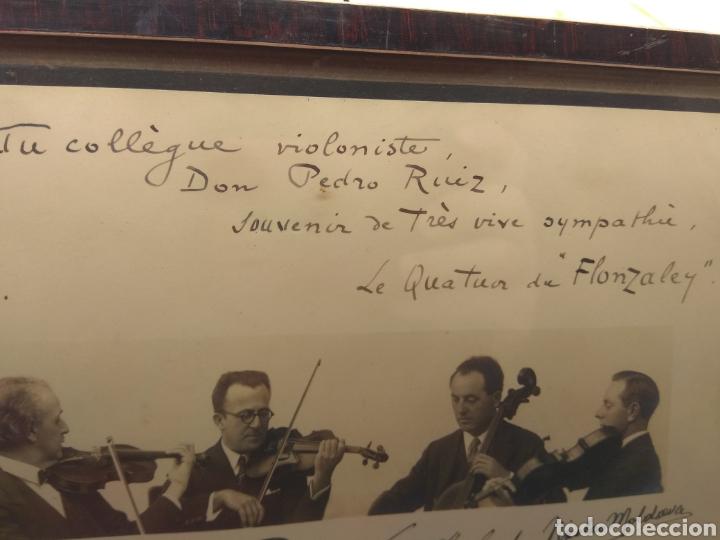 Autógrafos de Música : Foto Firmada y Dedicada por el Cuarteto de Violinistas Quartet Flonzaley en el año 1928 - - Foto 5 - 218722076