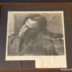 Autógrafos de Música : LITOGRAFÍA FRANCESC COSTA AMB DEDICATORIA 1918. Lote 221686233