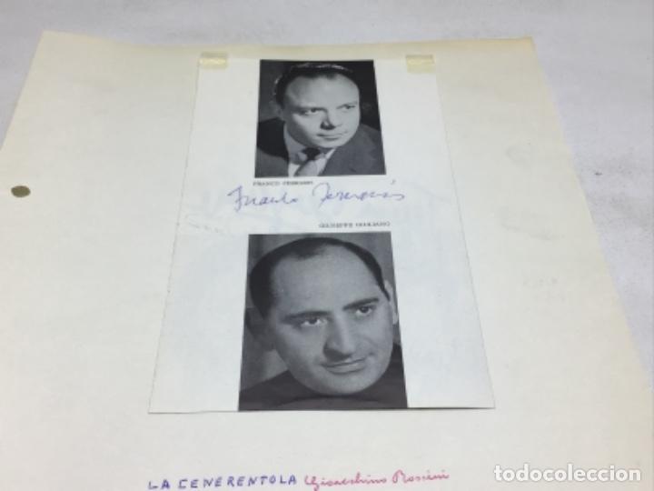 Autógrafos de Música : AUTOGRAFOS CANTANTES DE OPERA - OBRA LA CENERENTOLA 1971-TERESA BERGANZA-CAROL WEISS-GIANNA LOLLIN - Foto 4 - 222592006