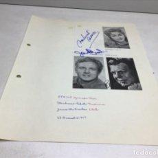 Autógrafos de Música : AUTOGRAFOS CANTANTES DE OPERA - OBRA OTELO 1969- MONTSERRAT CABALLE-JAMES MCCRACKEN-PETER GLOSSOP. Lote 222593198