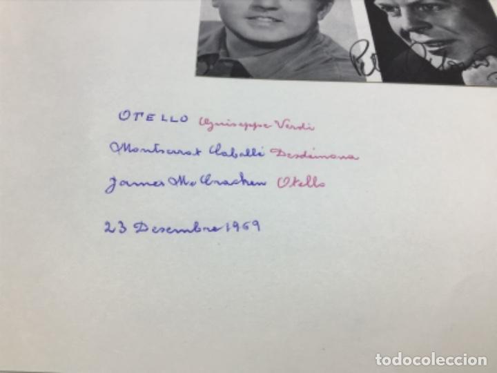 Autógrafos de Música : AUTOGRAFOS CANTANTES DE OPERA - OBRA OTELO 1969- MONTSERRAT CABALLE-JAMES McCRACKEN-PETER GLOSSOP - Foto 2 - 222593198