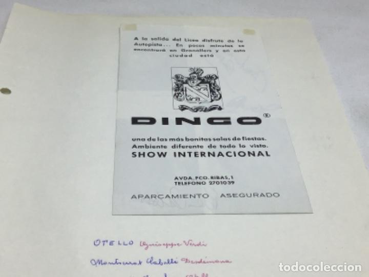 Autógrafos de Música : AUTOGRAFOS CANTANTES DE OPERA - OBRA OTELO 1969- MONTSERRAT CABALLE-JAMES McCRACKEN-PETER GLOSSOP - Foto 5 - 222593198