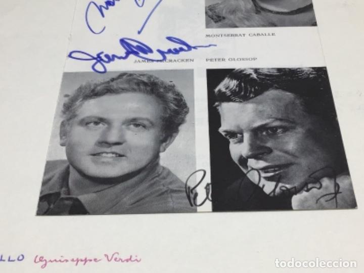Autógrafos de Música : AUTOGRAFOS CANTANTES DE OPERA - OBRA OTELO 1969- MONTSERRAT CABALLE-JAMES McCRACKEN-PETER GLOSSOP - Foto 6 - 222593198