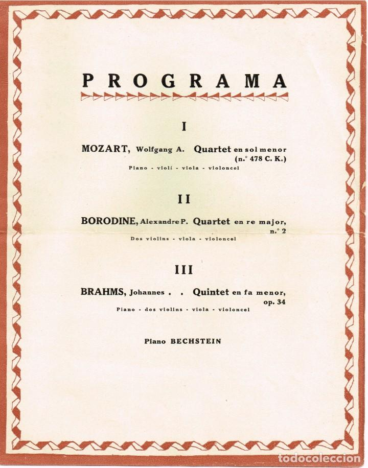 """Autógrafos de Música : 1921 1922 Associació de Música """"Da Camera"""" QUINTET ROSÉ de Viena - Imp. Oliva de Vilanova - Foto 3 - 222613916"""