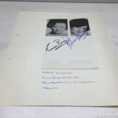 Autógrafos de Música : AUTOGRAFOS CANTANTES DE OPERA - OBRA NABUCCO AÑO 1970 - EMMA RENZI - ALICIA MATASLIAN. Lote 222761061