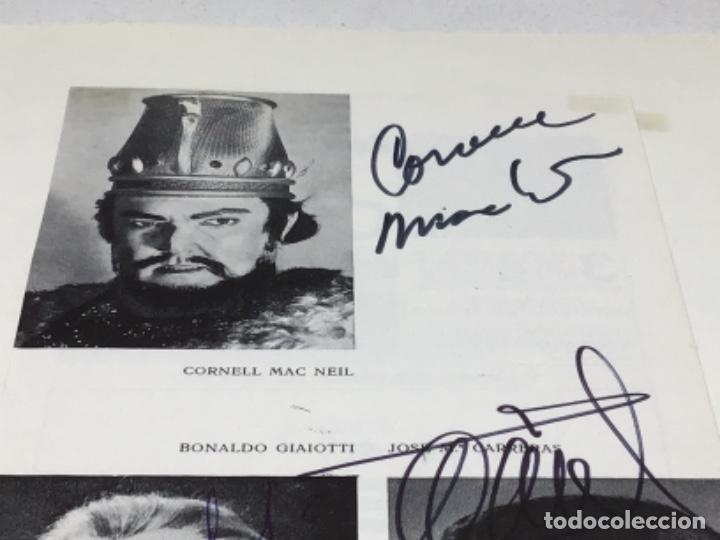 Autógrafos de Música : AUTOGRAFOS CANTANTES DE OPERA - NABUCCO AÑO 1970- CORNELL MAC NEIL-BONALDO GIAIOTTI-JOSE Mª CARRERAS - Foto 3 - 222762477