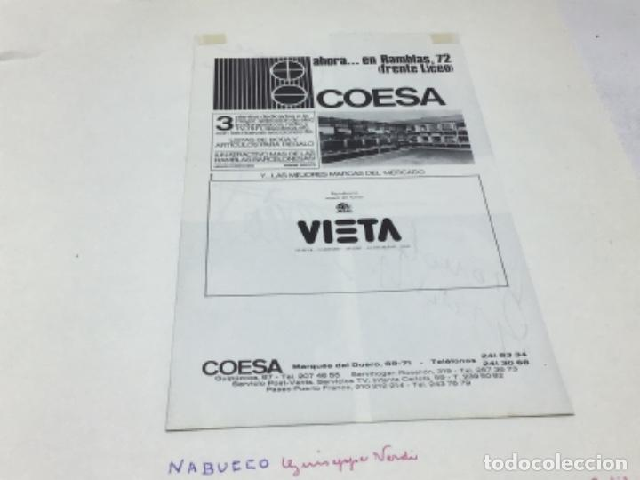 Autógrafos de Música : AUTOGRAFOS CANTANTES DE OPERA - NABUCCO AÑO 1970- CORNELL MAC NEIL-BONALDO GIAIOTTI-JOSE Mª CARRERAS - Foto 4 - 222762477