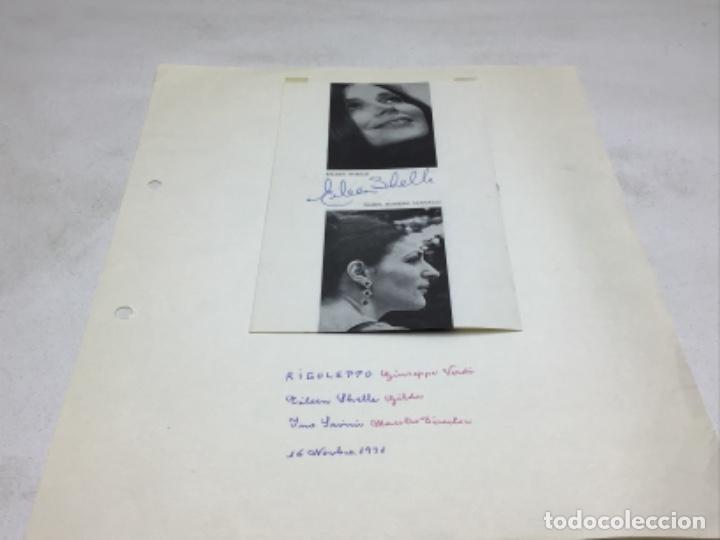 AUTOGRAFOS CANTANTES DE OPERA - RIGOLETO AÑO 1971-EILEEN SHELLE-MABEL ROMERO SANGALLI-INO SAVINI (Música - Autógrafos de Cantantes )