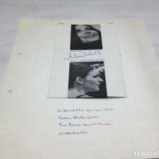 Autógrafos de Música : AUTOGRAFOS CANTANTES DE OPERA - RIGOLETO AÑO 1971-EILEEN SHELLE-MABEL ROMERO SANGALLI-INO SAVINI. Lote 222763438