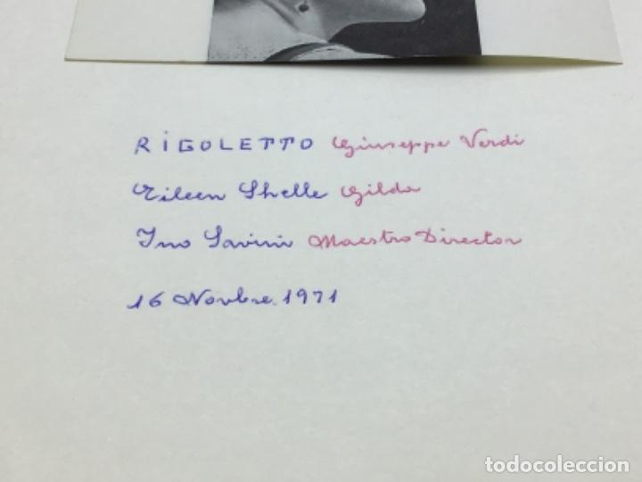 Autógrafos de Música : AUTOGRAFOS CANTANTES DE OPERA - RIGOLETO AÑO 1971-EILEEN SHELLE-MABEL ROMERO SANGALLI-INO SAVINI - Foto 2 - 222763438
