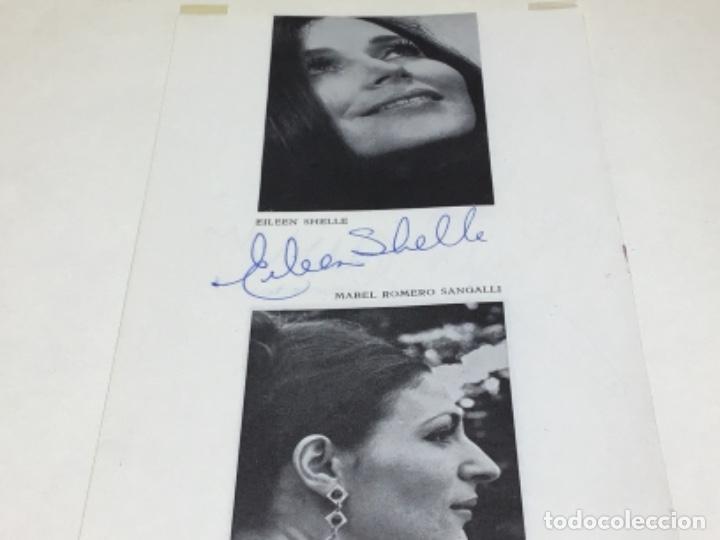 Autógrafos de Música : AUTOGRAFOS CANTANTES DE OPERA - RIGOLETO AÑO 1971-EILEEN SHELLE-MABEL ROMERO SANGALLI-INO SAVINI - Foto 3 - 222763438