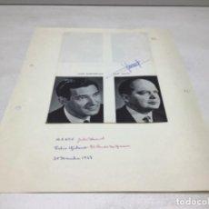 Autógrafos de Música : AUTOGRAFOS CANTANTES DE OPERA - MANON AÑO 1968- FELIX GIBAND - JOHN DARRENKAMP. Lote 222903068