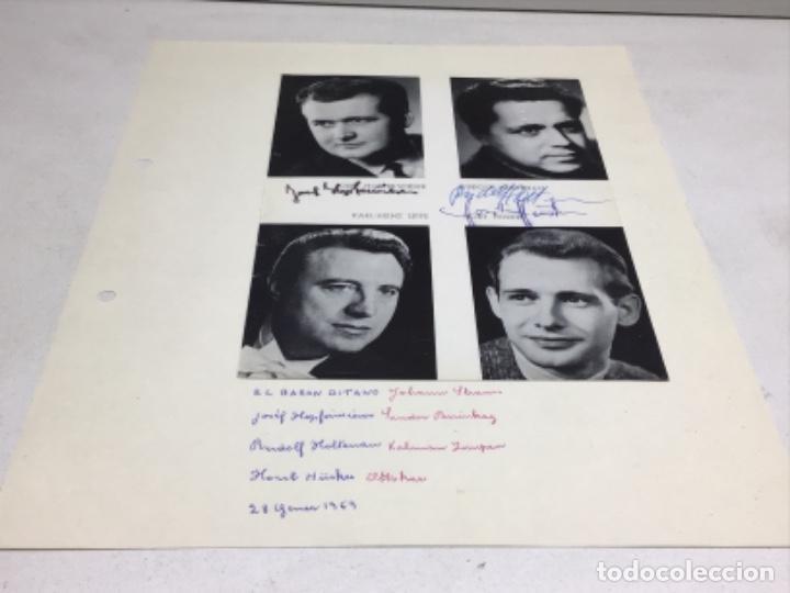 AUTOGRAFOS CANTANTES DE OPERA-EL BARON GITANO AÑO 1969-JOSEF HOPTER WIESER-RUDOLF HOLTENAU-HORT HUSK (Música - Autógrafos de Cantantes )