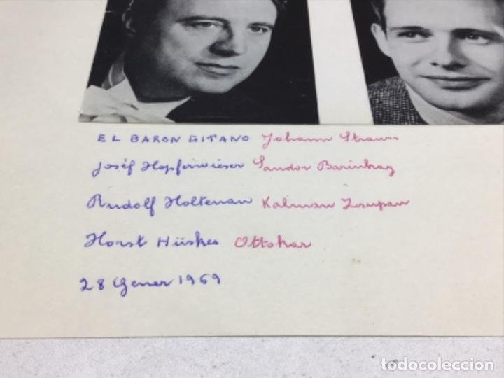 Autógrafos de Música : AUTOGRAFOS CANTANTES DE OPERA-EL BARON GITANO AÑO 1969-JOSEF HOPTER WIESER-RUDOLF HOLTENAU-HORT HUSK - Foto 2 - 222904230