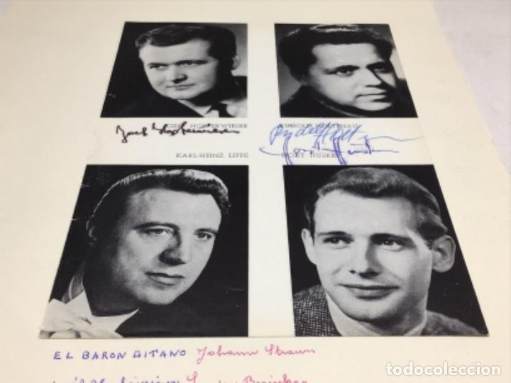 Autógrafos de Música : AUTOGRAFOS CANTANTES DE OPERA-EL BARON GITANO AÑO 1969-JOSEF HOPTER WIESER-RUDOLF HOLTENAU-HORT HUSK - Foto 3 - 222904230