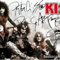 Autógrafos de Música : KISS AUTOGRAPHED FASCIMILE SIGNED NEW YORK CITY POSTER. Lote 225164635