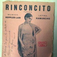 Autógrafos de Música : PROGRAMA DE ESPECTACULOS DE TANGO , FIRMADO Y DEDICADO POR CELIA GAMEZ . 27-11-1929 ORIGINAL. Lote 225357645