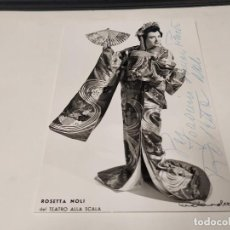 Autographes de Musique : ÓPERA - FOTOGRAFÍA CON DEDICATORIA Y AUTÓGRAFO DE LA SOPRANO ROSETTA NOLI. Lote 230233000