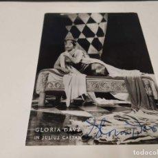 Autografi di Musica : ÓPERA - FOTOGRAFÍA CON AUTÓGRAFO DE LA SOPRANO GLORIA DAVY. Lote 230234620