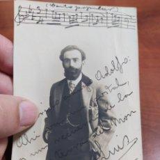 Autógrafos de Música : LUIS TORREGROSA MÚSICO Y COMPOSITOR DEL IMNO LES FOGUERES DE SAN CHUAN.. Lote 230766025