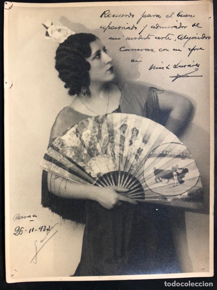 FOTO CON AUTÓGRAFO Y DEDICATORIA DE LA NIÑA DE LINARES.PETRA GARCÍA ESPINOSA.CANTAORA DE FLAMENCO (Música - Autógrafos de Cantantes )