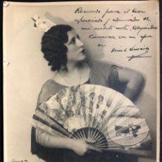 Autógrafos de Música : FOTO CON AUTÓGRAFO Y DEDICATORIA DE LA NIÑA DE LINARES.PETRA GARCÍA ESPINOSA.CANTAORA DE FLAMENCO. Lote 231555300