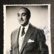 Autografi di Musica : FOTO CON DEDICATORIA Y AUTÓGRAFO DEL BARITONO PEDRO TEROL 8,5 X 11,5 CM. Lote 233738120