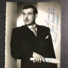 Autographes de Musique : FOTO CON AUTÓGRAFO DEL CANTANTE JUAN FUAL 8,5 X 13,5 CM. Lote 234060365