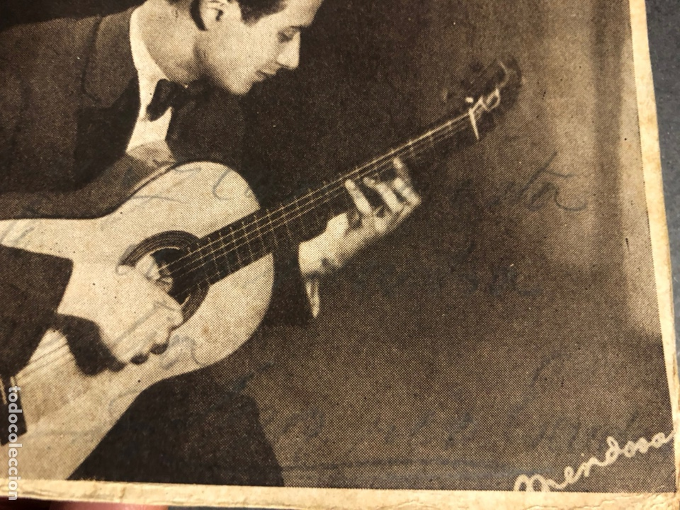 Autógrafos de Música : Foto con autógrafo de el guitarrista Mario Escudero.foto Mendoza 10 x 14,5 cm - Foto 2 - 234379585