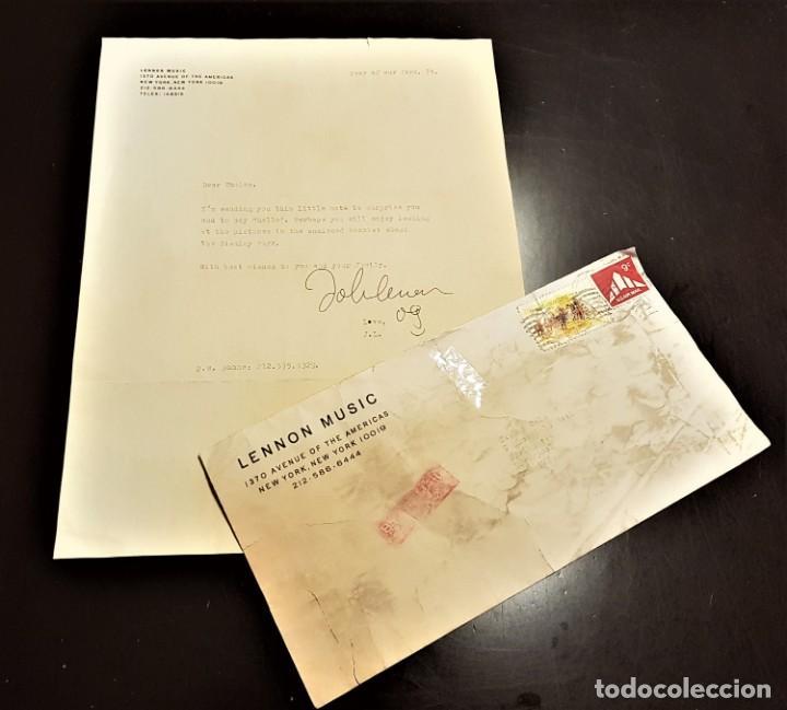 AUTOGRAFO JOHN LENNON THE BEATLES + CERTIFICADO DE AUTENTICIDAD POLYDOR TONY SHERIDAN LP CD LOTE BOX (Música - Autógrafos de Cantantes )