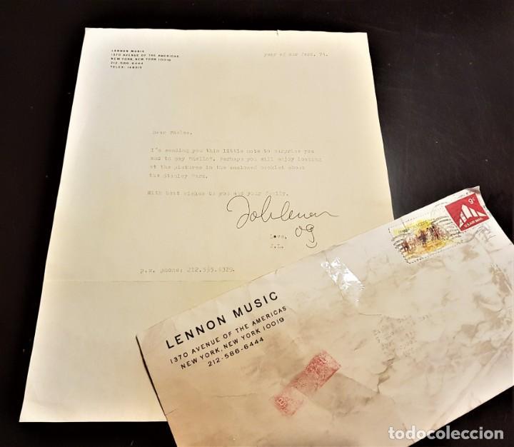 Autógrafos de Música : AUTOGRAFO JOHN LENNON THE BEATLES + CERTIFICADO DE AUTENTICIDAD polydor tony sheridan lp cd lote box - Foto 3 - 234906750