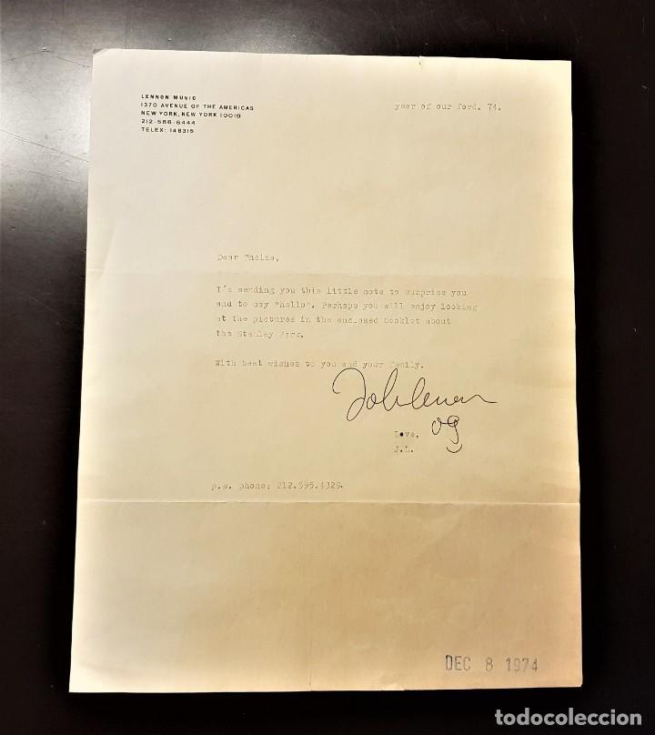 Autógrafos de Música : AUTOGRAFO JOHN LENNON THE BEATLES + CERTIFICADO DE AUTENTICIDAD polydor tony sheridan lp cd lote box - Foto 4 - 234906750
