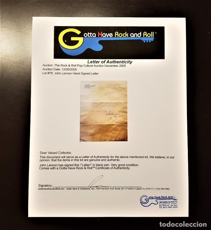 Autógrafos de Música : AUTOGRAFO JOHN LENNON THE BEATLES + CERTIFICADO DE AUTENTICIDAD polydor tony sheridan lp cd lote box - Foto 16 - 234906750