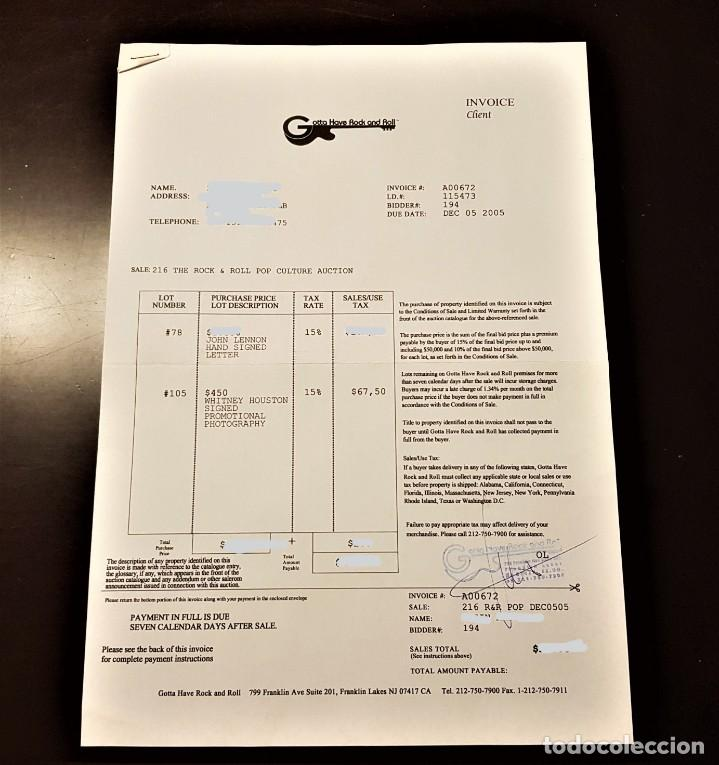 Autógrafos de Música : AUTOGRAFO JOHN LENNON THE BEATLES + CERTIFICADO DE AUTENTICIDAD polydor tony sheridan lp cd lote box - Foto 20 - 234906750