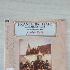 Autógrafos de Música : FRANCO BATTIATO DEDICADO. Lote 235277270