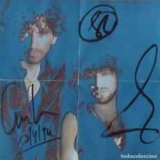 Autografi di Musica : CARLES SABATER, PEP SALA Y GERRY DUFFY. SAU. AUTÓGRAFOS, FIRMA ORIGINALES. CD. 1994.. Lote 235966355