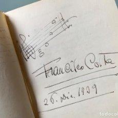Autographes de Musique : ÁLBUM AUTÓGRAFOS AÑOS 39-70, FRANCESC COSTA, BLAY NET, GALOFRE OLLER, OSCAR STRAUS, ABELLO, OTROS. Lote 237562940