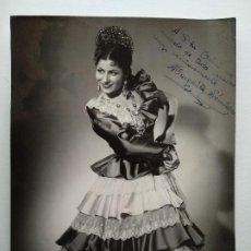 Autographes de Musique : MARGARITA SANCHEZ. AUTOGRAFO, FIRMA. FOTO GRACIA ZARAGOZA. GRAN TAMAÑO 17,5 X 23,5 CM.. Lote 237721175