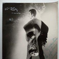 Autographes de Musique : ANTONIO AMAYA. AUTOGRAFO, FIRMA. FOTO VENEGAS, MADRID. GRAN TAMAÑO 17,5 X 23,8 CM.. Lote 237722460