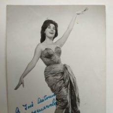 Autographes de Musique : FOTOGRAFIA CON AUTOGRAFO DE ROSITA FERRER.. Lote 240673895