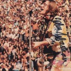 Autógrafos de Música : JOHN SEBASTIAN AUTOGRAFO FOTO FIRMADA 11X15 SIGNED PHOTO AUTOGRAPH THE LOVIN' SPOONFUL WOOSTOCK 1969. Lote 243554190