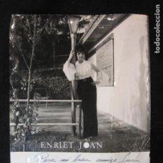 Autógrafos de Música : ENRIET JOAN-AUTOGRAFO-FOTOGRAFIA ANTIGUA FIRMADA-VER FOTOS-(K-1961). Lote 244603755
