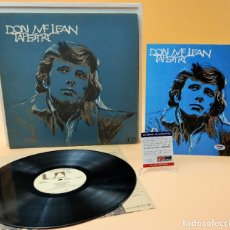 Autógrafos de Música : DON MCLEAN - ONE OF THE RAREST SIGNED AND ORIGINAL US - FIRST PRESS / TAPESTRY. Lote 244636420