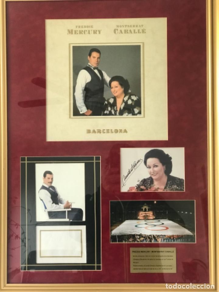 AUTOGRAFO DE PUÑO Y LETRA DE FREDDIE MERCURY Y MONTSERRAT CABALLÉ. BARCELONA 92. OLIMPIADAS. (Música - Autógrafos de Cantantes )