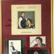 Autógrafos de Música : AUTOGRAFO DE PUÑO Y LETRA DE FREDDIE MERCURY Y MONTSERRAT CABALLÉ. BARCELONA 92. OLIMPIADAS.. Lote 245763715