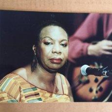Autógrafos de Música : NINA SIMONE FOTO ORIGINAL ANTIGUA DE LA DISCOGRAFICA AÑOS 80-90. Lote 247005085
